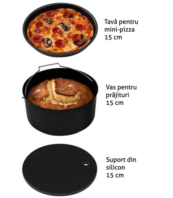 Set accesorii pentru friteuza, diametru 15 cm